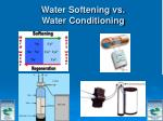 water softening vs water conditioning