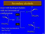 secondary alcohols