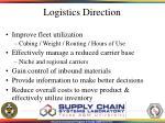logistics direction