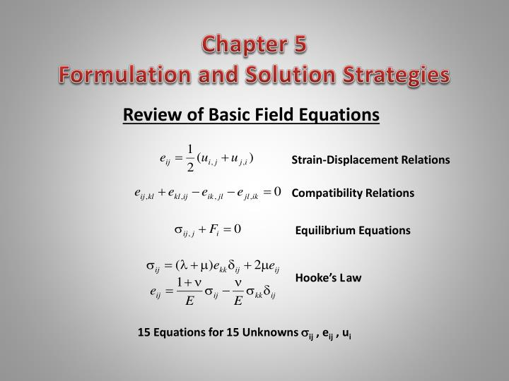 chapter 5 formulation and solution strategies n.