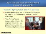 your transportation reimbursement account components5