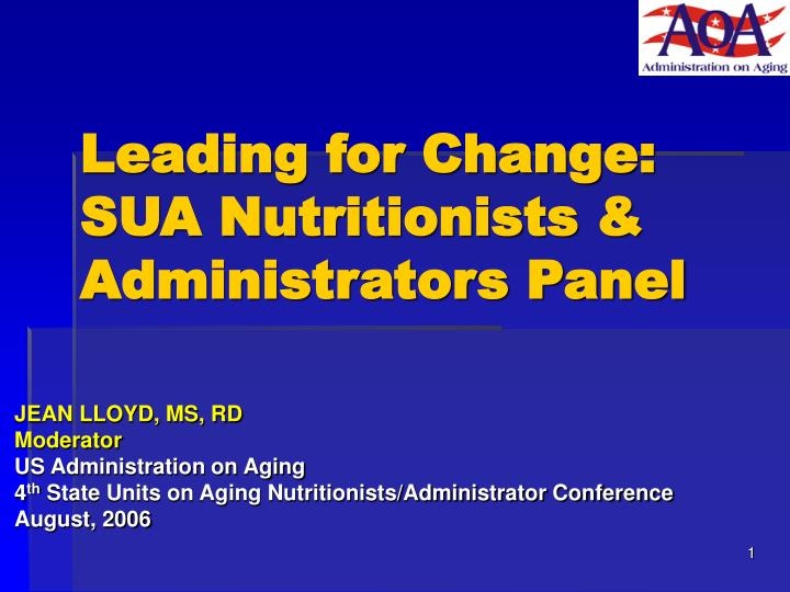 leading for change sua nutritionists administrators panel n.
