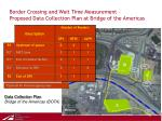 border crossing and wait time measurement proposed data collection plan at bridge of the americas