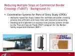 reducing multiple stops at commercial border crossings txdot background 1