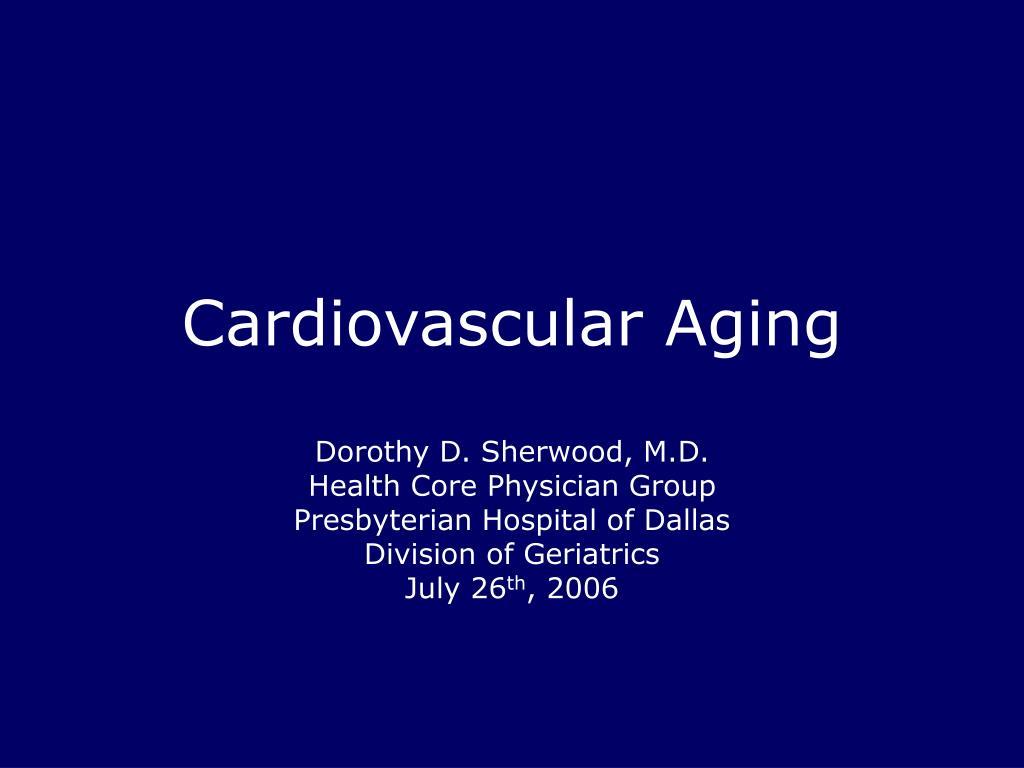 cardiovascular aging l.