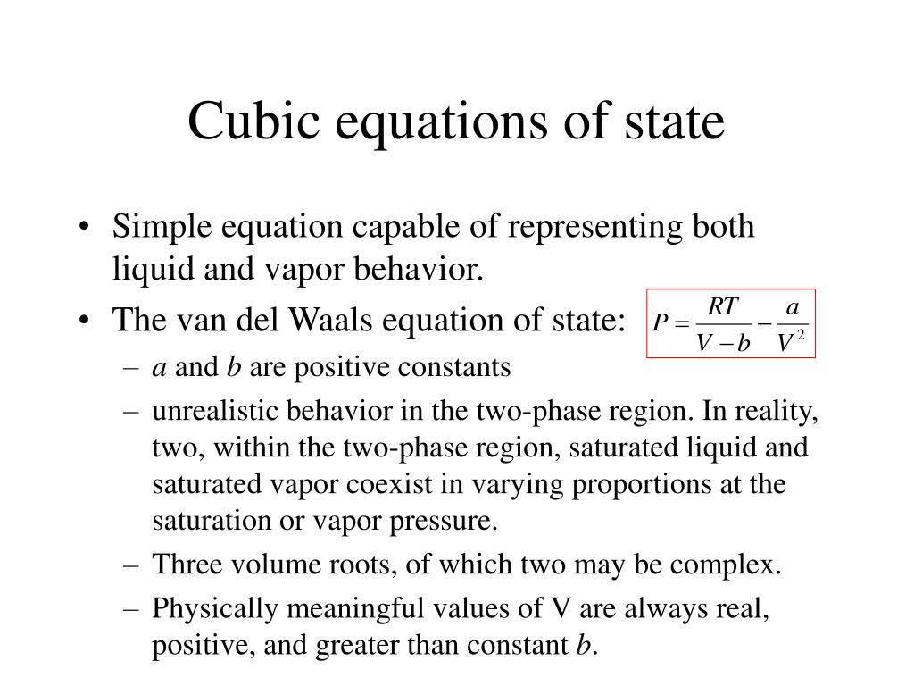 Cubic equations of state