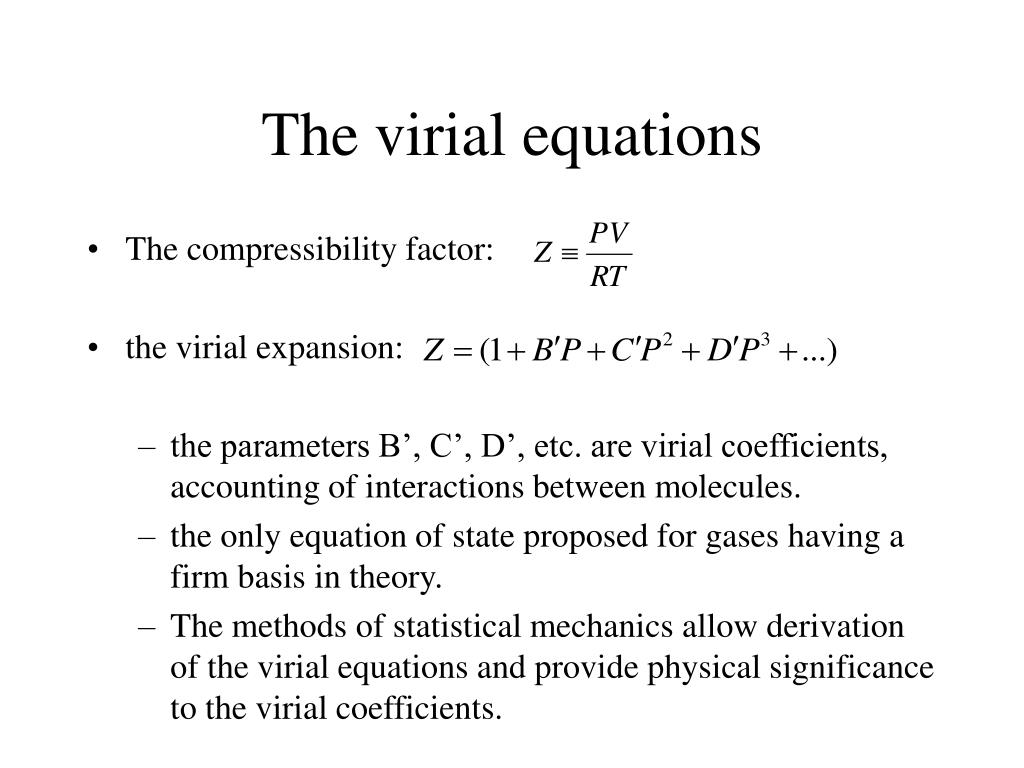 The virial equations