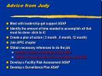 advice from judy