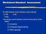 worksheet standard assessment10