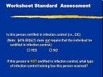 worksheet standard assessment5