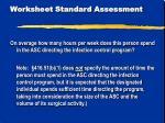 worksheet standard assessment6