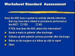 worksheet standard assessment7