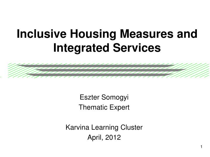 inclusive housing measures and integrated services n.