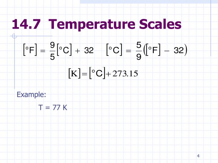 14.7  Temperature Scales