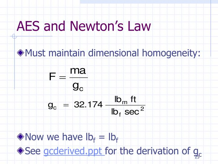 AES and Newton's Law