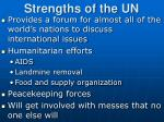 strengths of the un