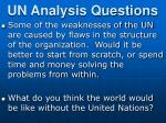 un analysis questions