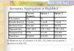 inventory aggregation at highmed47
