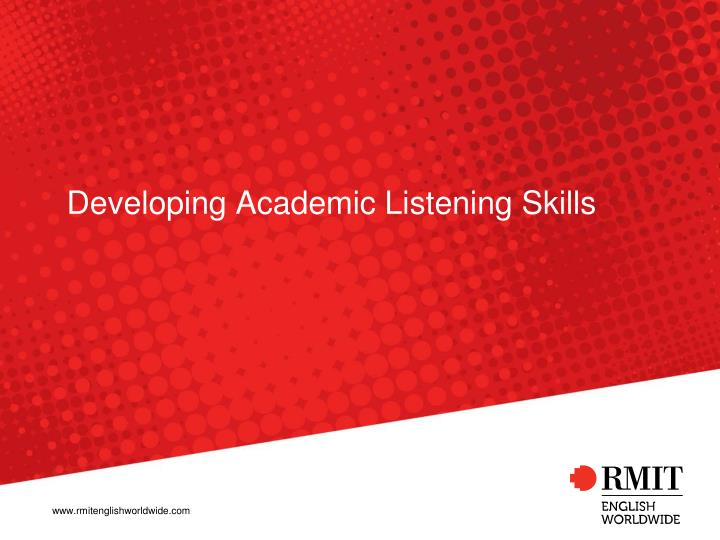 developing academic listening skills n.