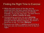 finding the right time to exercise