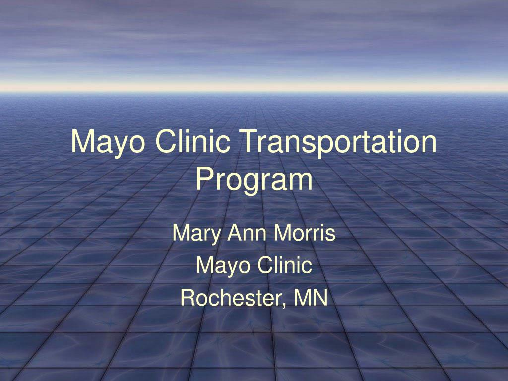 mayo clinic transportation program l.