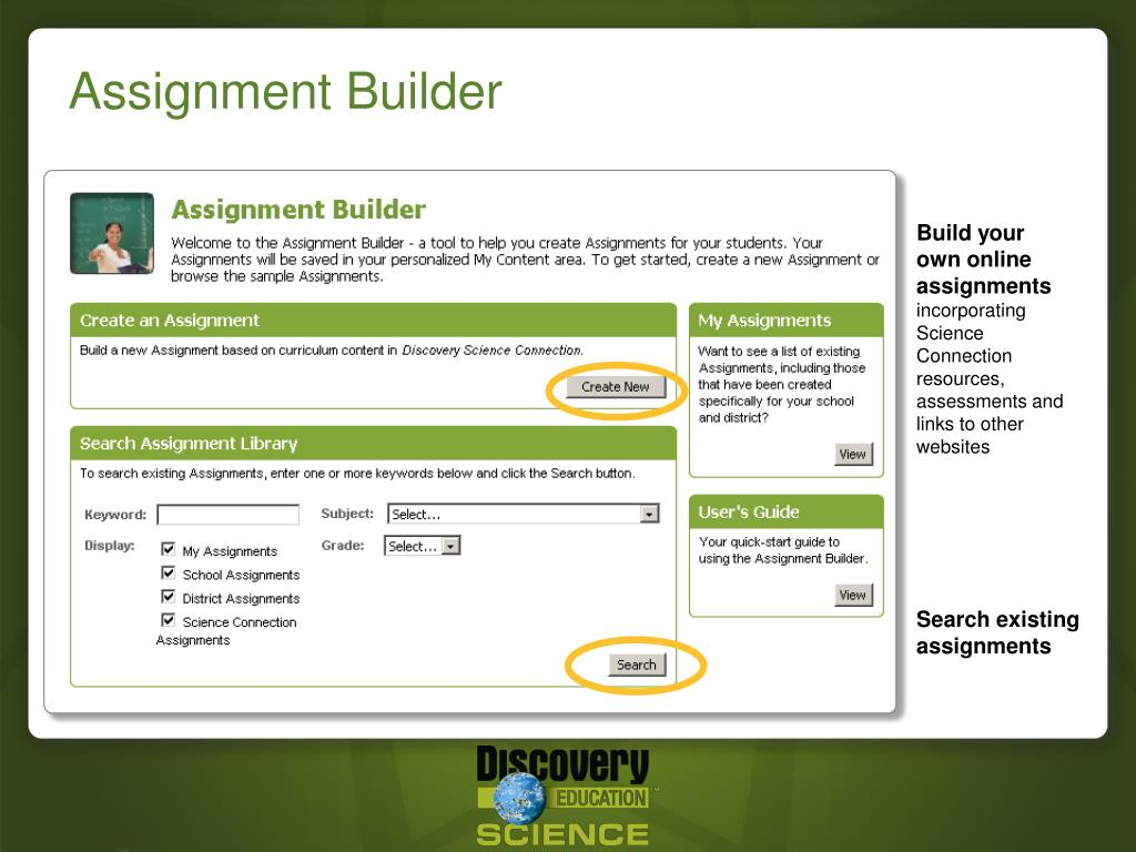 Build your own online assignments