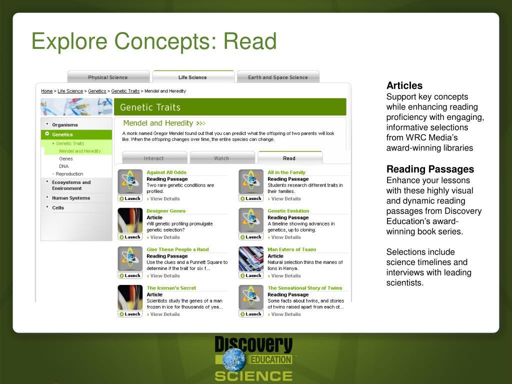 Explore Concepts: Read