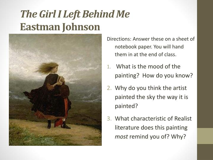 Ppt The Girl I Left Behind Me Eastman Johnson Powerpoint