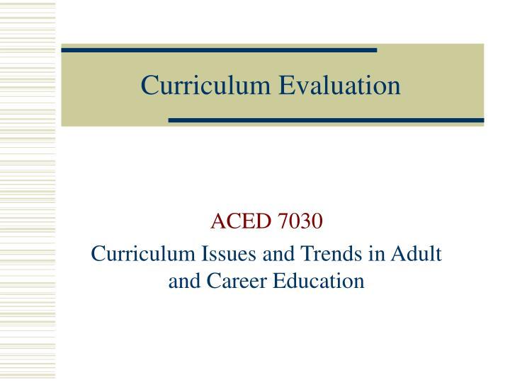 curriculum evaluation n.