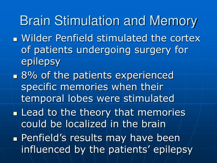 Brain Stimulation and Memory