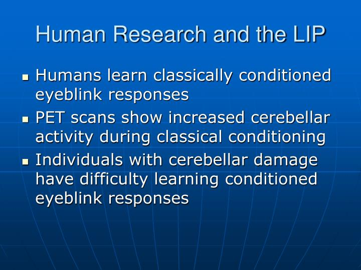 Human Research and the LIP