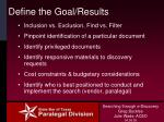 define the goal results