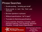 phrase searches