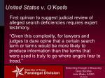 united states v o keefe