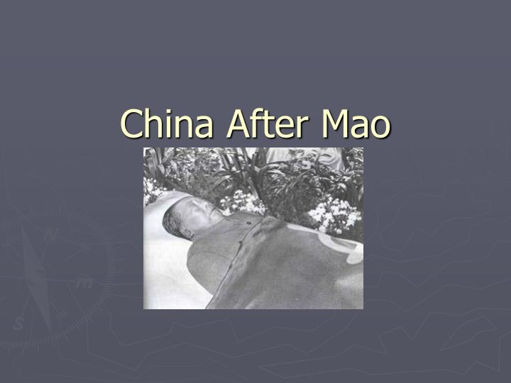 china after mao n.