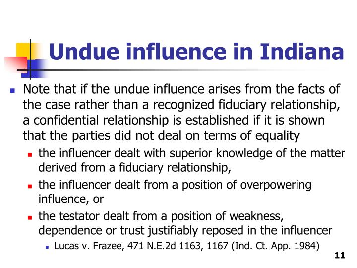 how to avoid undue influence