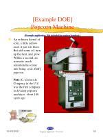 example doe popcorn machine example application not included in seminar handout