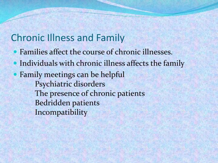Chronic Illness and Family
