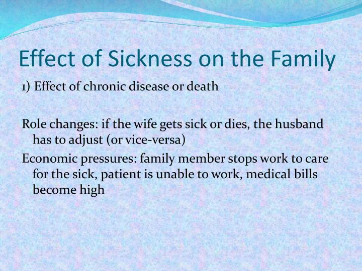 Effect of Sickness on the Family
