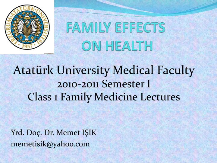 Family effects on health