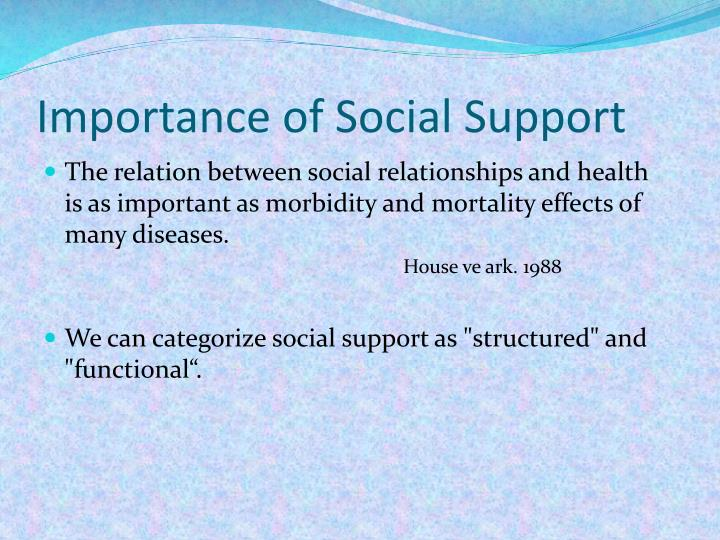 Importance of Social Support