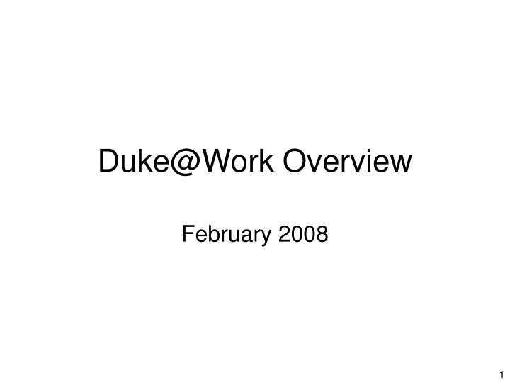 duke@work overview n.