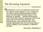the dreaming argument7