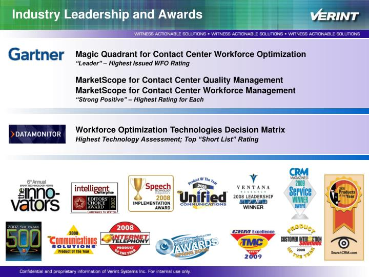 Industry Leadership and Awards