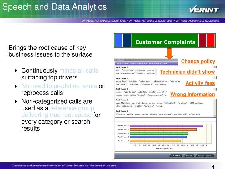 Speech and Data Analytics