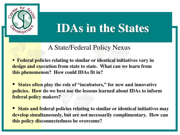A State/Federal Policy Nexus