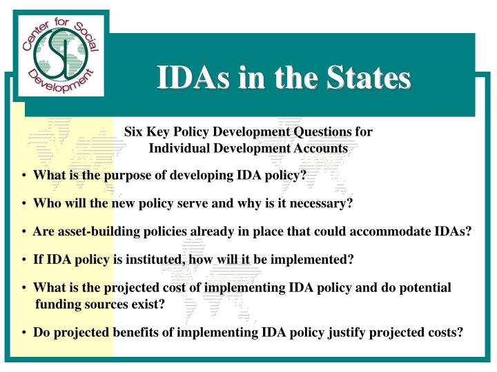 Six Key Policy Development Questions for