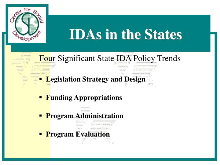 Four Significant State IDA Policy Trends