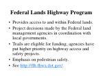 federal lands highway program