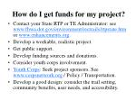 how do i get funds for my project